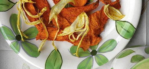 Raw cibuľové chipsy