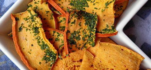 Raw tekvicové chipsy