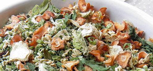 Raw vegeta – sušená zelenina