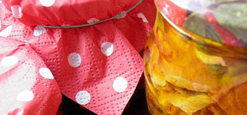 Sušená tekvica v oleji
