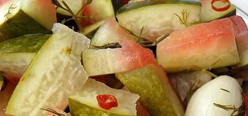 Kvasené melónové šupky