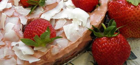Raw vegan jahodová torta