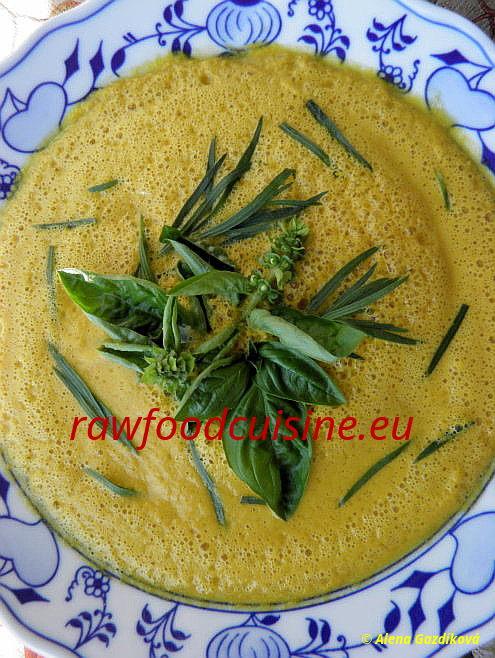 Raw tekvicová polievka