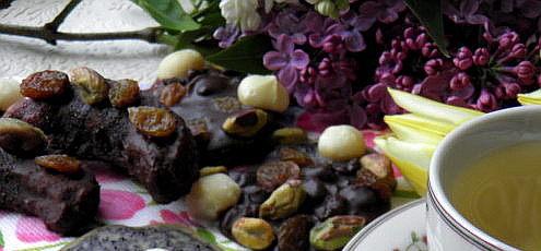 Raw vegan pohánkové rožteky sovocnou čokoládou