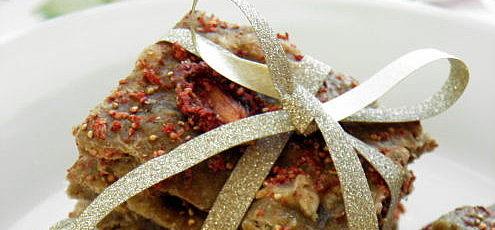 Raw kamutové sušienky s jahodami