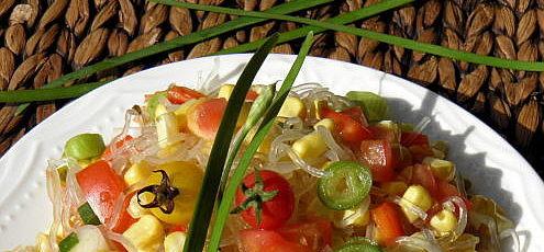 Raw vegan kelp rezance so zeleninou