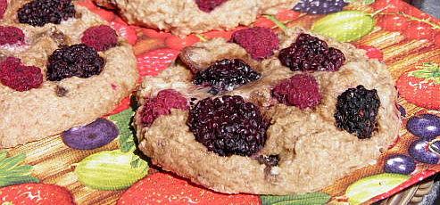Raw vegan černicovo-malinové koláčiky