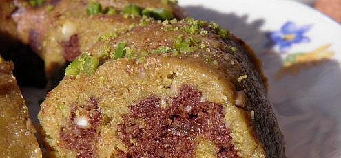 Raw vegan mramorová bábovka