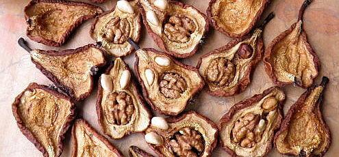 Sušené hrušky s orechmi