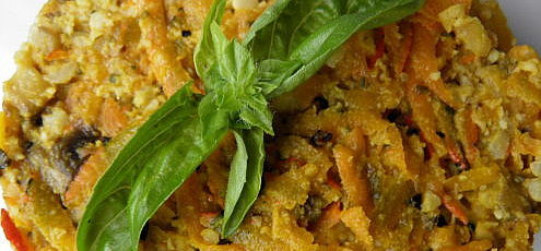 Raw vegan tatárský biftek ztekvice hokkaido