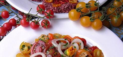 Šalát z divokých paradajok